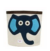 3 sprouts storage bin elephant navy