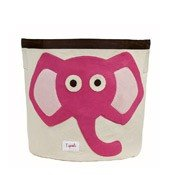 3 sprouts storage bin elephant pink