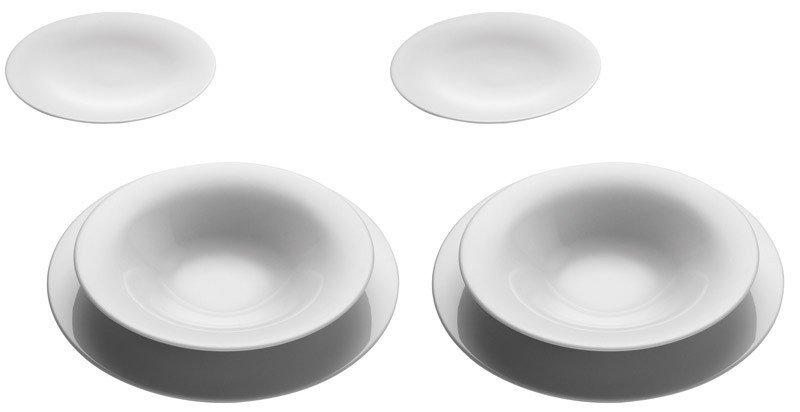 Ku 2013 dish set for two 6 pcs alessi - Alessi dinnerware sets ...
