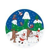 Happy Snowtime cake serving plate