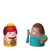 Porcelain figures Pina Farina & Fiona Fish set of 2