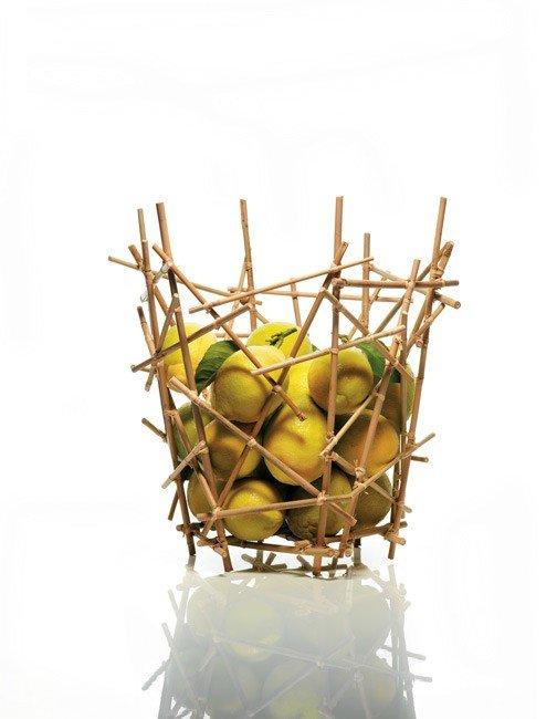 Blow up bamboo fruit basket alessi - Alessi blow up basket ...