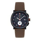 Wrist watch Tic15 3,8 cm leather strap brown chronograph