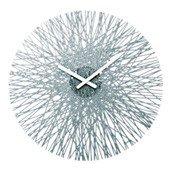 Silk wall clock anthracite