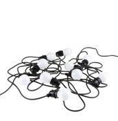 Bella Vista outdoor strip of 10 lights white cable