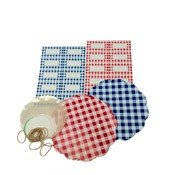 Gingham decorative preserve set