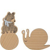 Bloomingville Mini Hanger 2 pcs teddy bear and snail