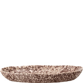 Columbine serving tray oval stoneware