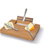 Party Cheese serving set with board and knives