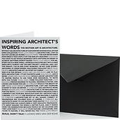 Architects Quotes Card with envelope