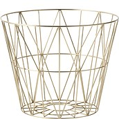 Ferm Living Metal basket brass