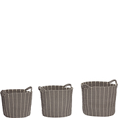 Hübsch Basket cotton with handle 3 pcs.