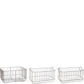 Hübsch Basket metal 3 pcs.