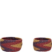 Hübsch Basket round braided 2 pcs.