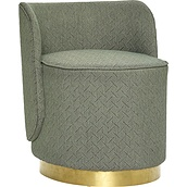 Hübsch Pouffe green backrest