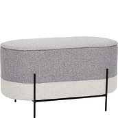 Hübsch Pouffe grey legged
