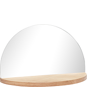 Hübsch Shelf rounded mirror