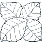 Leaf Decorative panels 4 pcs