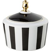 Stripes Sugar bowl black - small image