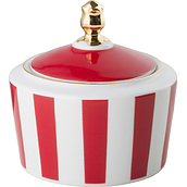 Stripes Sugar bowl red - small image