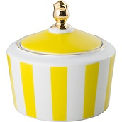Stripes Sugar bowl yellow - small image