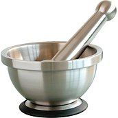 Mastrad Gourmet mortar and pestle steel