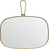 Meraki wall mirror with brass frame