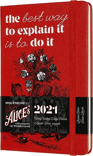 Moleskine 2021 12M Calendar P Alice's Adventures in Wonderland weekly hardcover
