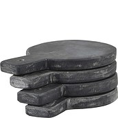 Nicolas Vahe Serving boards round slate 4 pcs