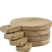 Nicolas Vahe Serving boards round wooden 4 pcs