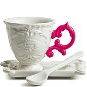 I-Coffee Coffee cup with saucer and teaspoon