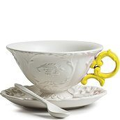 I-Tea Tea cup with saucer and teaspoon