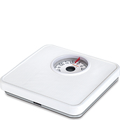Tempo White Analog bathroom scale