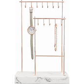 Stackers Rose Gold Jewelry rack 12 hooks
