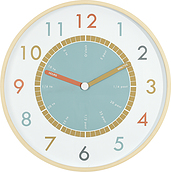 Tell The Time wall clock 42 cm wooden