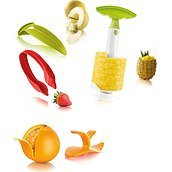 Fruit Set Colored Fruit handling tools